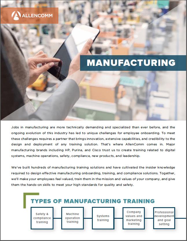 Manufacturing Training Allencomm