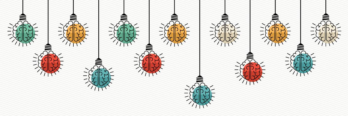 Drawing of Lightbulbs that Look Like Brains