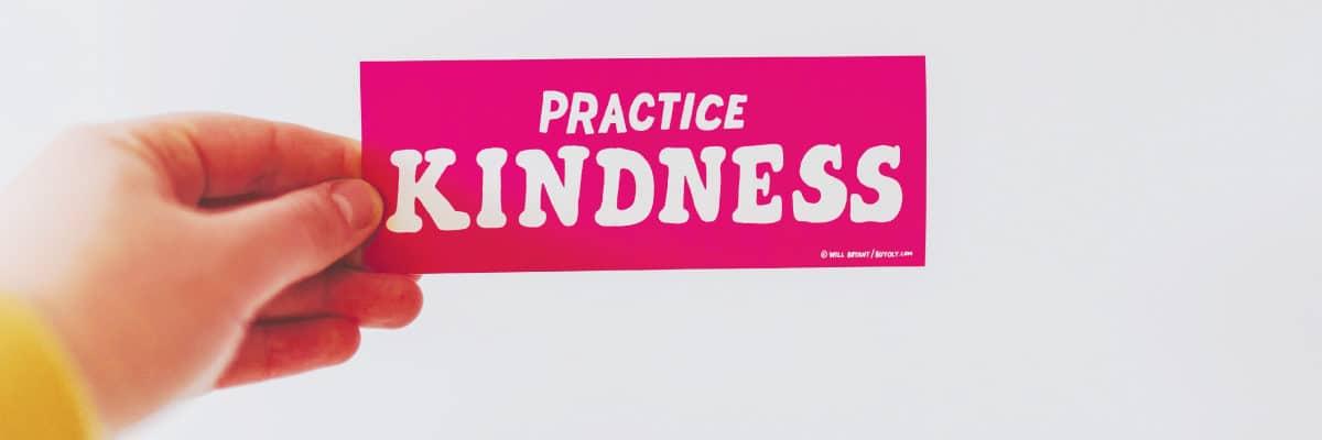 Hand Holding Practice Kindness Sticker