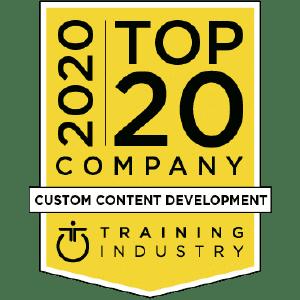 Custom eLearning Design Page Training Industry Badge